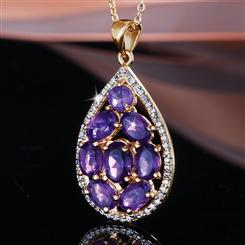 Reigndrop Amethyst Necklace