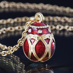 Imperial Egg Regal Red Necklace