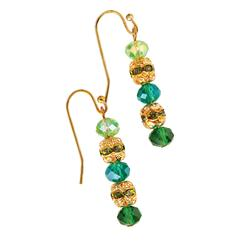 Vetro Bead & Cultured Pearl Earrings