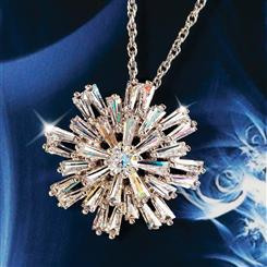 DiamondAura® Silent Night Snowflake Pendant