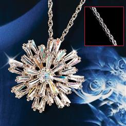 DiamondAura® Silent Night Snowflake Pendant & Chain Set