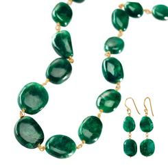 Toci Emerald Necklace & Earrings Set
