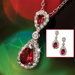York Diamond<em>Aura</em>&reg; Pendant & Earrings Set