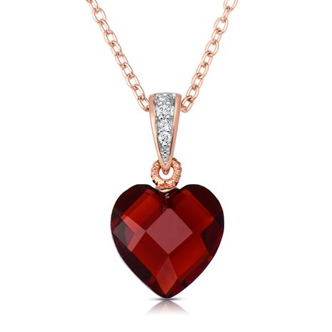 Rock of Love Red Heart Pendant