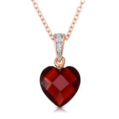 Rock of Love DiamondAura® Red Heart Pendant