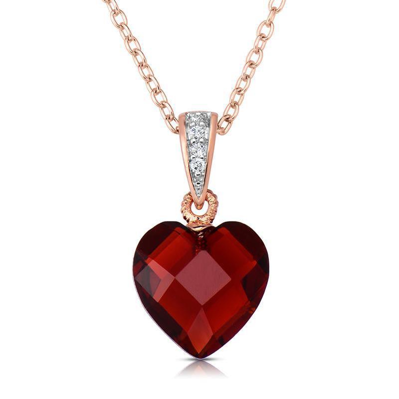 Mini Red Love Chandelier: Rock Of Love DiamondAura® Red Heart Pendant 27581
