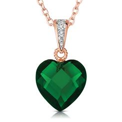 Rock of Love DiamondAura® Green Heart Pendant