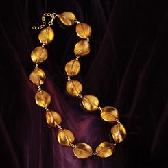Honey Gold Artisan Glass Necklace