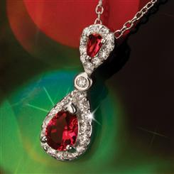 York DiamondAura® Pendant & Sterling Silver Chain