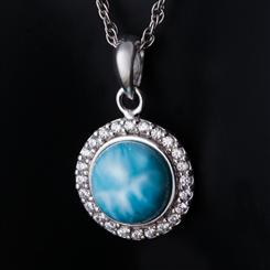 Caribbean Larimar Necklace