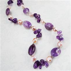 Biscayne Bay Amethyst & Pearl Necklace
