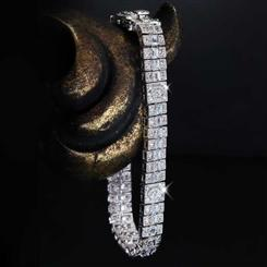After Midnight DiamondAura® Art Deco Bracelet