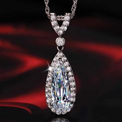 Diamond<em>Aura</em>&reg; French Tear Drop Pendant