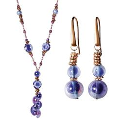 Murano Glass Capri Necklace & Earrings Set