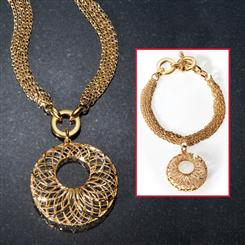 Arezzo Masters  Necklace & Bracelet Set