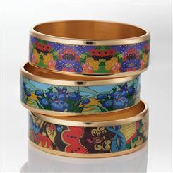 Gallery Bangle Collection Needlepoint, Iris Nouveau, Tapestry (Set of 3)