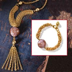 Milan Marsala Necklace & Bracelet