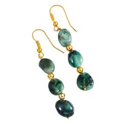 Amazonian Emerald Earrings