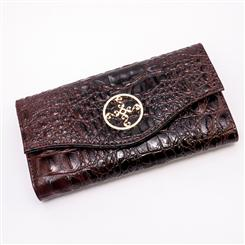 Avalon Crocodile-Embossed Wallet
