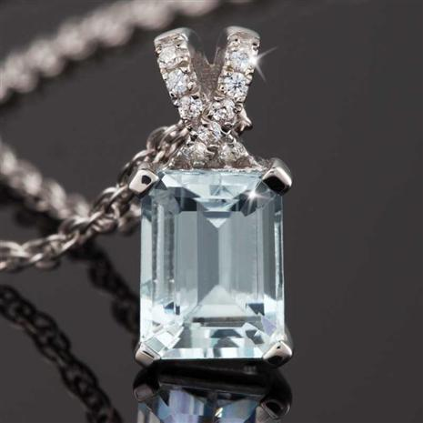 Aquamarine Ice Pendant