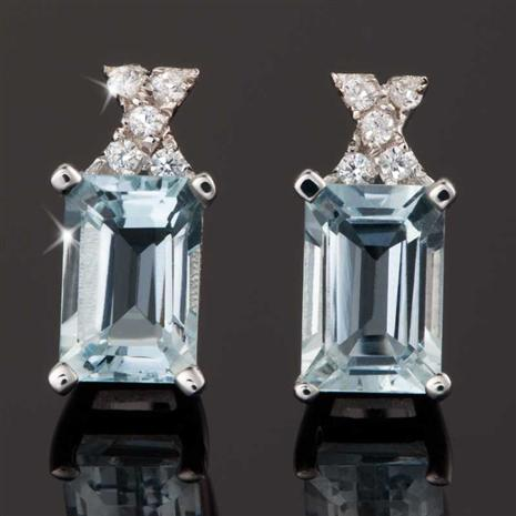 Aquamarine Ice Earrings