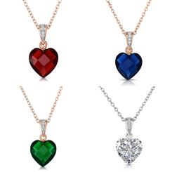 Rock of Love Heart Pendants (Set of 4) and 2 Necklaces
