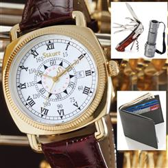 Stauer Explorer II Watch, Stauer Knife & Torch Set - PLUS - Joseph Abboud Passcase Wallet