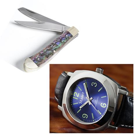 Stauer Valeo Watch & Two Blade Folding Knife