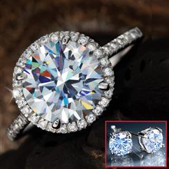 Blaze Diamond<em>Aura</em>&reg; Ring & FREE Stud Earrings