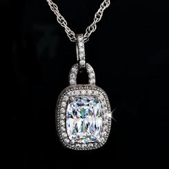 Diamond<em>Aura</em>&reg; Cushion Pendant (6 carat total weight)