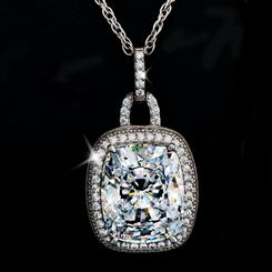 Diamond<em>Aura</em>&reg; Cushion Pendant (3 &frac13; ctw)