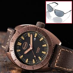 Armato Watch & FREE Black Flyboy Optics Sunglasses