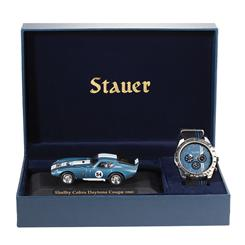 Stauer Raceway Watch & Shelby Cobra Gift Set
