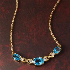 Knightsbridge Blue Topaz Necklace