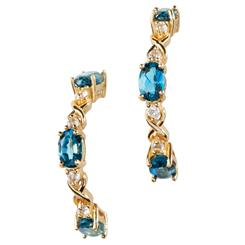 Knightsbridge Blue Topaz Earrings