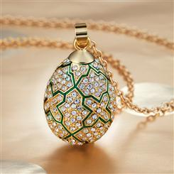 Romanov Egg Pendant Necklace