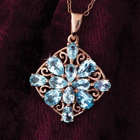 Blue Topaz Star Necklace