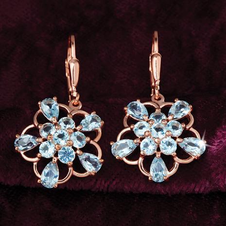 Blue Topaz Star Earrings