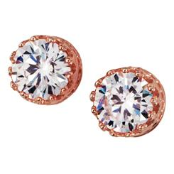 Diamond<em>Aura</em>&reg; Rose Gold Stud Earrings
