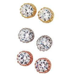 Diamond<em>Aura</em>&reg; Stud Complete Set of 3