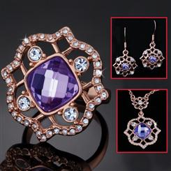 Elizabeth Ring, Necklace & Earrings Set
