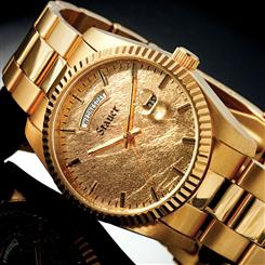 Stauer 24K Gold-Leaf Midas Mens Watch