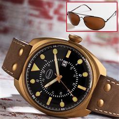 Stauer Platoon Watch & FREE Flyboy Optics® Sunglasses