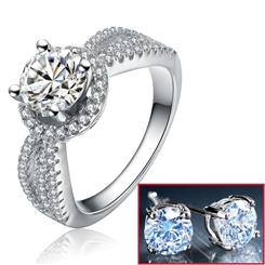 Diamond<em>Aura</em>&reg; Love at First Sight Ring & FREE Stud Earrings