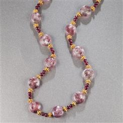 Tourmaline & Garnet Volta Necklace