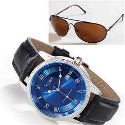 Urban Blue Watch & FREE Stauer Flyboy Optics Sunglasses