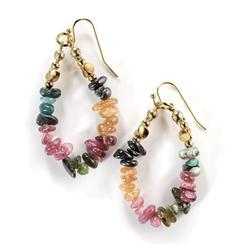 Chameleon Tourmaline Earrings