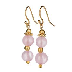 Pastel Pink Amethyst Earrings