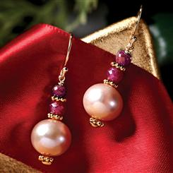 Sweet Somethings Ruby & Pearl Earrings
