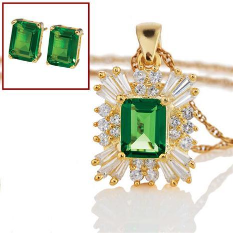 Starburst Helenite Necklace & Earrings Set